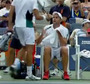 Roddick Sits in Opponent's Chair