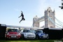 Long Jumper Leaps Over 3 Mini Coopers