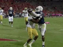 Arizona's Criner Grabs TD Around Helmet of Opponent