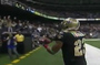 Saints' Thomas Gift Wraps Ball After TD