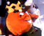 West Virginia Safety Takes Out Orange Mascot