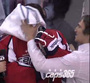 Perrault Gets Hat Trick Followed by Pie in the Face from Ovechkin