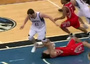 Kevin Love Steps on Scola's Face