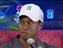 Tiger Woods Snaps at Reporters