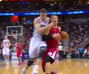 Jason Smith Body Checks Blake Griffin