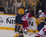 Shea Weber Slams Zetterberg's Head Into Boards