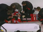 Hossa Taken Off on Stretcher After Brutal Hit