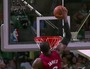 LeBron Flies Through Lane for Putback Dunk
