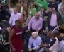Fan Hits Wade in the Face With Basketball
