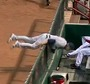 Brewers' Hart Flips into Dugout