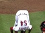 Reds' Chapman Celebrates With Somersaults