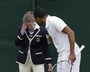 Mardy Fish Hits Line Judge in the Eye