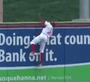 Minor Leaguer Scales Wall to Make Grab