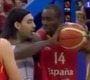 Serge Ibaka Elbows Luis Scola