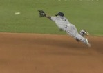 Padres' Amarista Lays Out, Throws S
