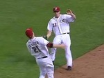 Reds' Frazier Makes Over-the-Should