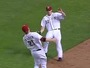 Reds' Frazier Makes Over-the-Shoulder Grab