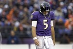 Flacco Throws Goal Line Pick Return