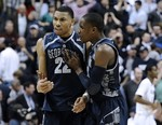 No. 7 Georgetown Comes Back Late to