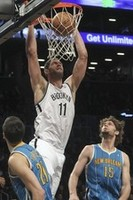 Brook Lopez Dunks on Twin Brother R