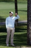 Sergio Garcia Hits Shot in a Tree