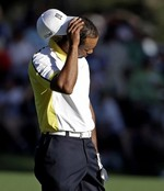 Tiger Literally Sinks Shot off the
