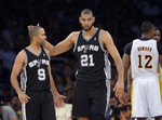 Spurs Sweep Lakers in Round 1