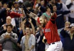 Gomes Punts Helmet During Walk-Off