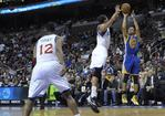 Curry Leads Warriors With Triple-Do