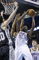Durant Double-Double Powers Thunder