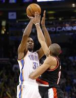 On-Fire Durant Leads Thunder Past B
