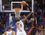Heat Top Thunder Behind James' 33