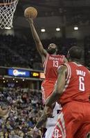 Harden Drops 43 in Three Quarters
