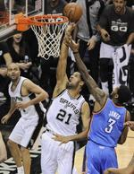 Spurs Stomp Thunder in Game 2