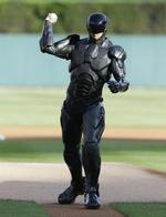 RoboCop Delivers 1st Pitch in Detro