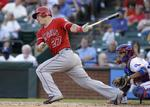 Trout Leads Angels in Texas Rout