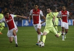 Messi Ties Champions League Goals R