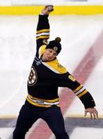 Gronk Spikes Puck at Bruins Game