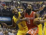 Harden Scores 44 to Beat Pacers