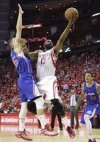 Harden Propels Houston in Game 2
