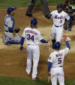 Mets Score Four in 6th to Seal Game