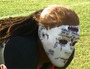 High School Linebacker Sports Halloween Mask