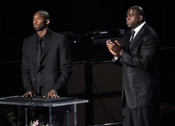 Magic and Kobe Speak at Michael Jackson Memorial