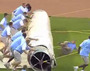 Royals' Field Crew Nearly Crush Employee