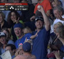 Fan Makes Catch While Holding Baby