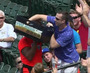 Foul Ball Lands in Vendor Basket