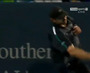 Roddick Smashes Ball into Stands